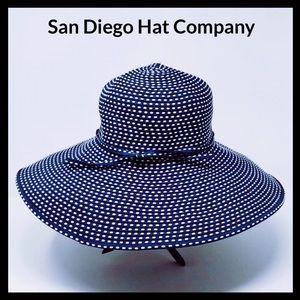 San Diego Hat Company Floppy Sun Hat UPF 50+ Navy